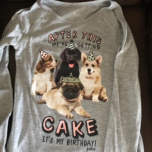 Justice Birthday Shirt Size 12
